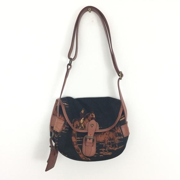 c70f714c25 ... australia ralph lauren horse print crossbody handbag 40bc8 f7a29